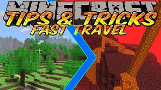 Minecraft Tips and Tricks - Nether Portals - How to travel fast using the Nether