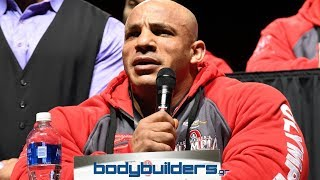 Big Ramy vs. Phil Heath At The 2017 Mr. Olympia Press Conference