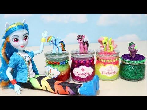My Little Pony Fazendo Slime Com As Novas Bonecas Equestria Girls -Brinquedonovelinhas