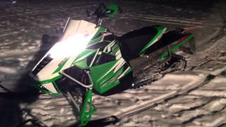 5. 2013 XF 1100 Arctic Cat Turbo Snow Pro Green 177 HP