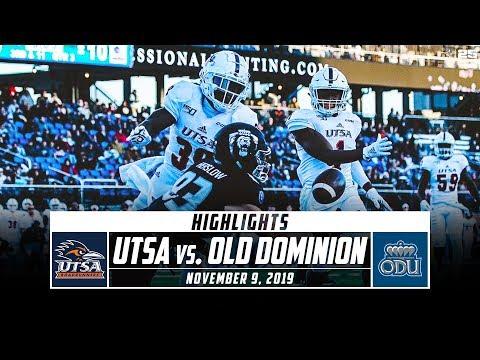 UTSA vs. Old Dominion Football Highlights (2019) | Stadium