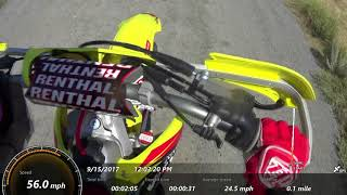 10. 2014 rmz250 Top Speed with GPS Overlay