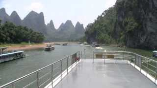 A boat trip from GuiLin to YangShuo along the Li River 漓江