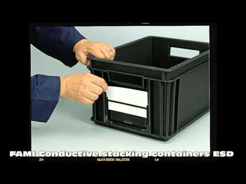 ESD Safe / conductive Stacking & Storage Containers / Boxes