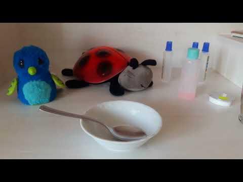 Slime yaptım(istek video)