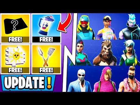 *NEW* Fortnite Update! | All 14 Free Summer Rewards, 80 Leaked Items, Daily Unvaults!