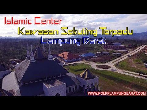 Islamic Center  Lampung Barat Ternyata Seperti Ini Jika Dilihat Dari Udara