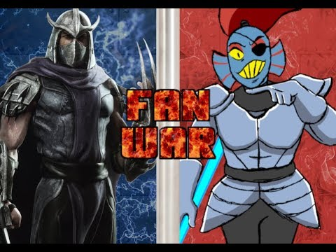 Fan War!!! Shredder vs Undyne