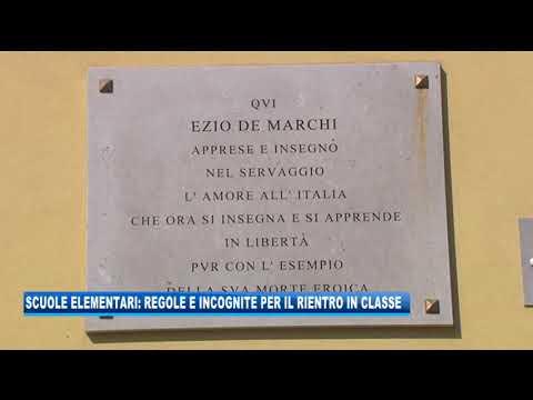 08/09/2020 - SCUOLE ELEMENTARI: REGOLE E INCOGNITE PER IL RIENTRO IN CLASSE