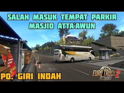 Bus GIRI INDAH Salah Masuk Tempat Parkir di Masjid Atta'Awun Puncak BOGOR || ETS INDONESIA