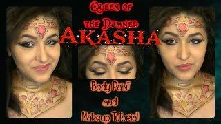Queen of the Damned Makeup & Body Paint Tutorial (NoBlandMakeup)