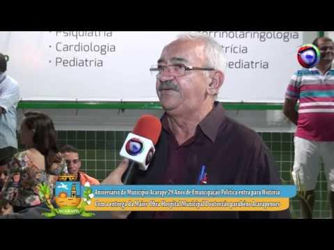 HOSPITAL O DOUTORZÃO 29 ANOS DE EMANCIPAÇÃO POLITICA DE ACARAPE ENTREVISTA COM DR. IRAN