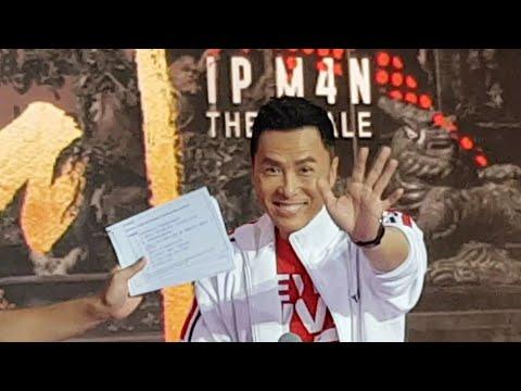 甄子丹 叶问4 Ip Man 4: The Finale - Singapore Tour Complete Donnie Yen's Interview @Our Tampines Hub