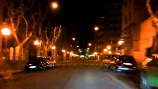 Huesca Spain  city pictures gallery : Downtown Huesca Spain By Night Car Ride Part 1