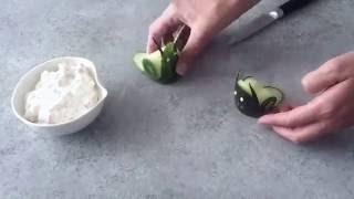 Healthy Cucumber Snail Shape Salad