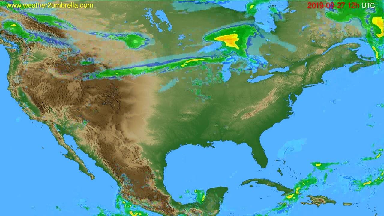Radar forecast USA & Canada // modelrun: 00h UTC 2019-09-27