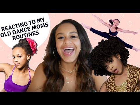 REACTING TO OLD DANCE MOMS ROUTINES   NIA SIOUX