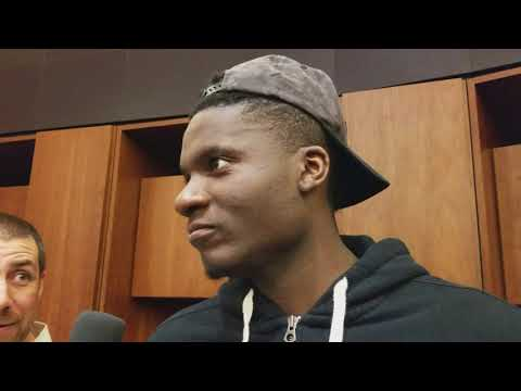 Clint Capela on scoring 18 points, 16 boards, 6 blocks against Anthony Davis