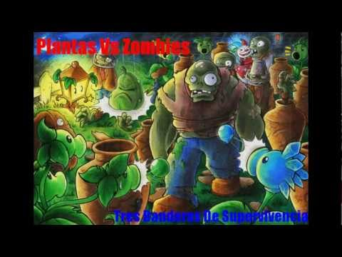 Plantas Vs Zombies 3 Banderas de Supervivencia