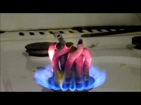 Calcium Gluconate set on fire