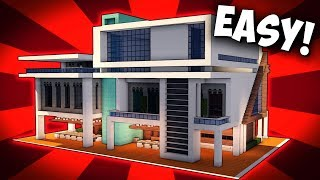 Minecraft: How To Build A Large MODERN HOUSE / Modern Mansion Tutorial [ How to make ] 2017