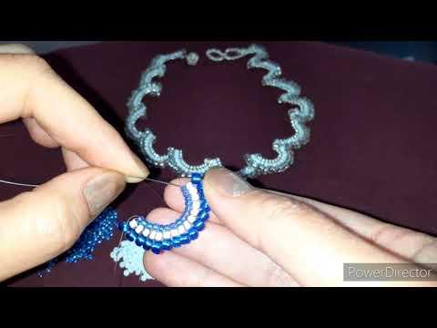 Colier - semiluna- handmade din margele ( beads )