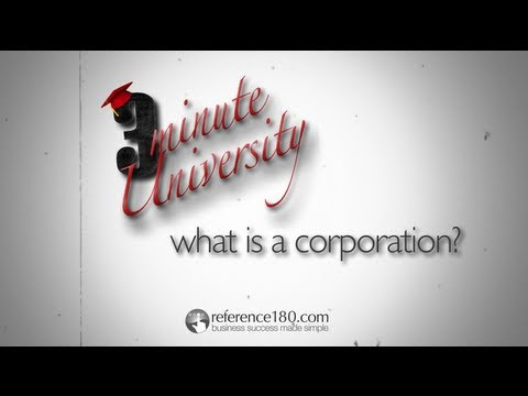 What is a Corporation? - US focus