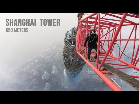 Hodn� brulatn� video z Shanghai Tower (650 meters)