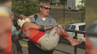 For the first time, a Minneapolis police officer sees footage of himself rescuing a woman after the I-35W bridge collapse 10 years ago, reports Susan-Elizabeth Littlefield (2:04).WCCO 4 News At 5 – July 27, 2017