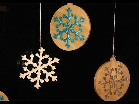 make some Christmas Snowflake Ornaments