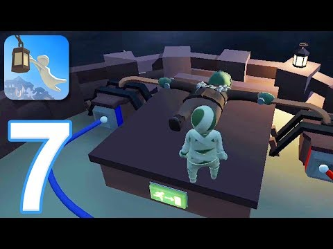Human Fall Flat Mobile - Gameplay Walkthrough Part 7 - Level 10: Dark (iOS, Android)