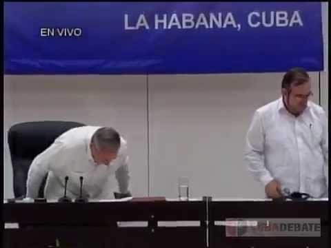 Intervención de Raúl en firma de acuerdos de paz en Colombia