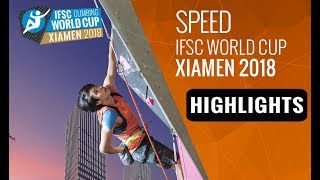 IFSC Climbing World Cup - Xiamen 2018 - Lead/Speed - Highlights by International Federation of Sport Climbing