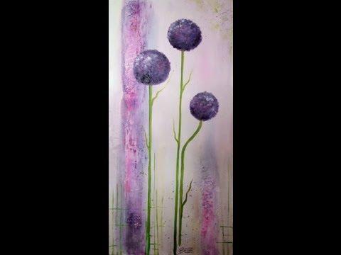 Painting demo Ornamental Onion  Acrylmalerei lange Version