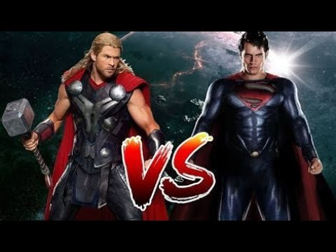 Marvel  Comic DC Superman Vs Thor