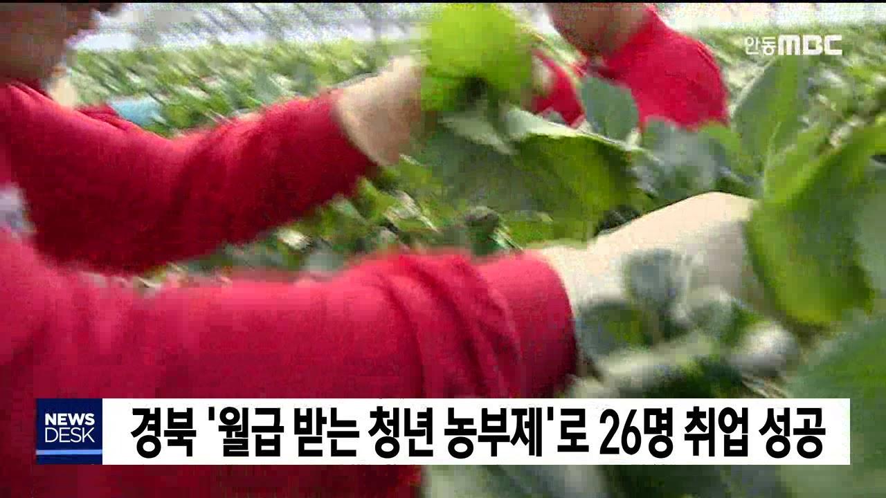 경북 '월급받는 청년 농부제'로 26명 취업 성공