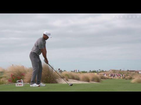 Tiger Woods' pre-round warm-up …