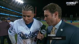 Manny Machado Postgame Interview | Dodgers vs Brewers NLCS Game 4