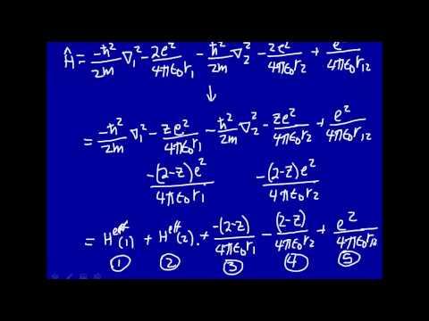 Variation method - He atom