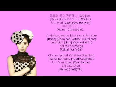 Orange Caramel – 까탈 레나 (Catallena).[Coded lyrics].