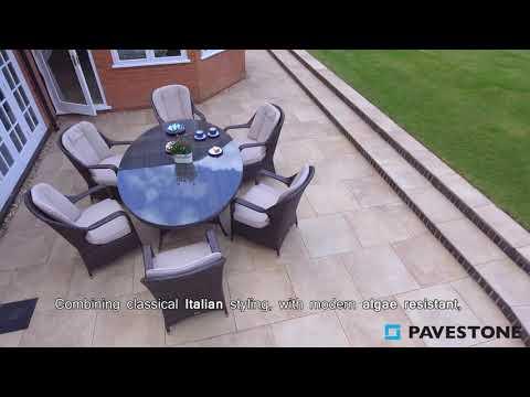 Video of 603mm x 603mm Al Fresco Soile Porcelain Paving 58 Pieces