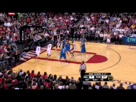 Game 6: Marcus Camby to LaMarcus Aldridge for a dunk