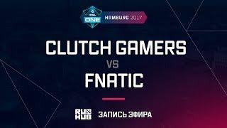 Clutch Gamers vs Fnatic, ESL One Hamburg 2017, game 1 [v1lat, GodHunt]