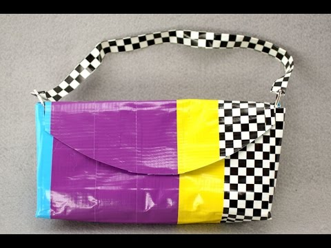 purses - We're taking duct tape crafts to the next level! If you've already mastered our duct tape fabric (http://youtu.be/ThJKNGPBaGA) and our basic duct tape purses...