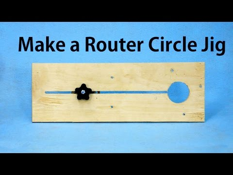 Router Circle Jig -  a woodworkweb.com  woodworking video