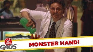Just For Laughs - Gags - Unexpected Monster Bowl Hand Prank
