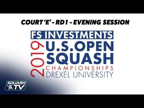 U.S. Open 2019 - Rd 1 Evening Session - Racquet Club Court E