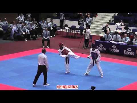 58kg Zhanat ISKAKOV (RUS) vs (POR) FORE Rafael (-21 European TKD Championships 2015) (видео)
