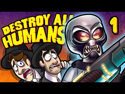 Destroy All Humans! - EP 1: Most Uncomfortable Phone Call | SuperMega (видео)