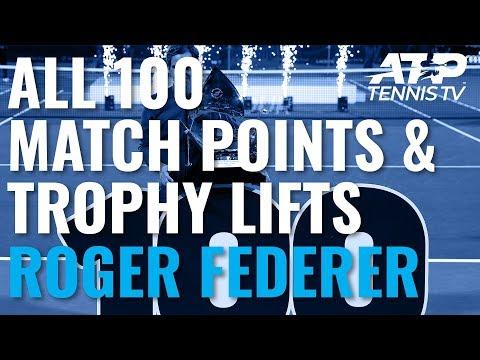 Roger Federer's 100 Titles: Championship Points & Trophy Lifts! - Thời lượng: 35 phút.